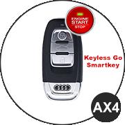 Audi AX4 Schlüsselmodell