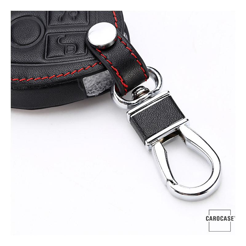 Leather car key case for mercedes benz key type m7 for Key mercedes benz