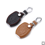 Leather key case/cover incl. keychain for Mercedes-Benz...
