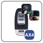 Coque / Housse Clé télécommande en cuir Voiture incl. mousquetons pour Audi  LEK1-AX4