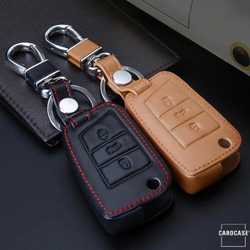 Cover Guscio / Copri-chiave Pelle compatibile con Volkswagen, Audi, Skoda, Seat V3