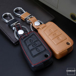 Car Key Cover Leather for Volkswagen - KeyType V3