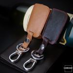 Leder Schlüssel Cover passend für Volkswagen, Audi, Skoda, Seat Schlüssel V3