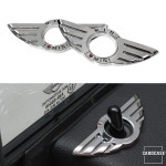 Car Styling Door Pin Lock Wing Emblem Badge
