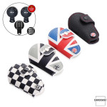 Car Key Cover Leather for Mini-Cooper R55 R56, KeyType MC2