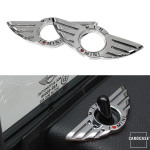 Car Styling Door Pin Lock Wing Emblem Badge Type A I Love...