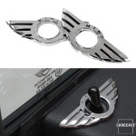 "Car Styling Door Pin Lock Wing Emblem Badge Type B ""Mini"""