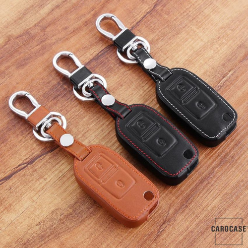 Cuero funda para llave de Volkswagen, Skoda, Seat V1