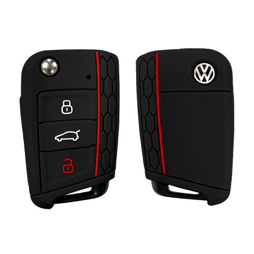 Silicone key fob cover case fit for Volkswagen, Audi, Skoda, Seat V3 remote key
