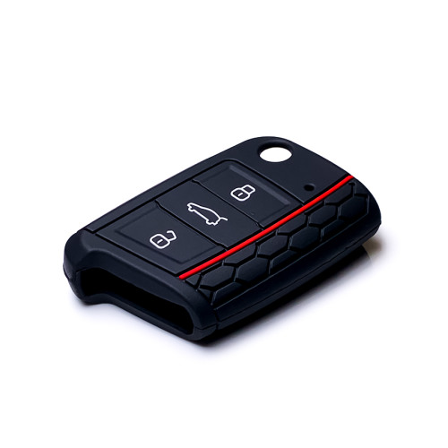 Car Key Cover Leather for Volkswagen - KeyType AU3