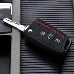 Silikon Schutzhülle / Cover passend für Volkswagen, Audi, Skoda, Seat Autoschlüssel V3