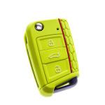 Silikon Schutzhülle / Cover passend für Volkswagen, Audi, Skoda, Seat Autoschlüssel V3 grün