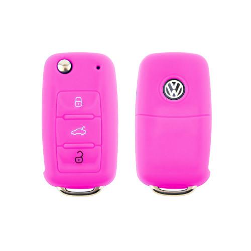 Silicone key case/cover for Volkswagen, Skoda, Seat remote keys rose SEK1-V2-10