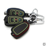 Car Key Cover Leather, luminous, for Ford KeyType F4