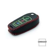 Schlüssel Cover aus echtem Leder für Ford, Nachleuchtend, Schlüssel Typ F2