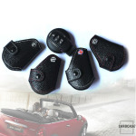 Car Key Cover, black leather for Mini-Cooper R55 R56, Key Type MC2