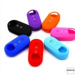 Silicone key case/cover for Fiat remote keys black SEK1-FT2-1
