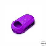 Silikon Schutzhülle / Cover passend für Fiat Autoschlüssel FT2 lila
