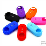 Silicone key case/cover for Fiat remote keys blue SEK1-FT2-4