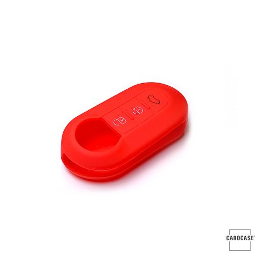 Silicone coque / housse clé télécommande pour Fiat voiture rouge SEK1-FT2-3