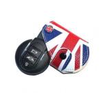 Leder Schlüssel Cover-Etui für MINI Schlüssel, Union Jack Flag / rot-blau (A) LEK3-MC3-40