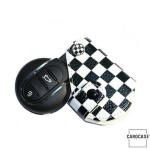 Car Key Cover Leather for Mini-Cooper R55 R56, KeyType MC2 Variant C