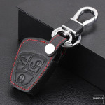 Leder Schlüssel Cover passend für Mercedes-Benz Schlüssel M4 schwarz