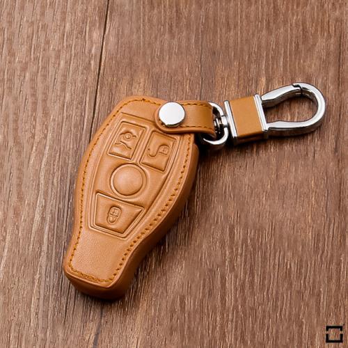 Cuero funda para llave de Mercedes-Benz M8 marrón