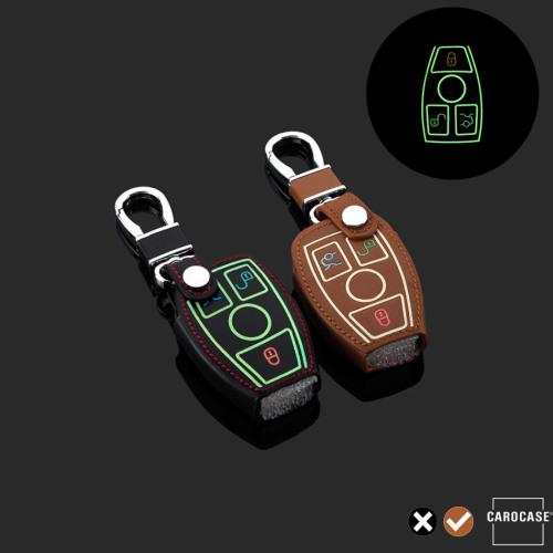 Cover Guscio / Copri-chiave Pelle compatibile con Mercedes-Benz M7 marrone
