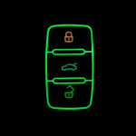 Lumineux coque/housse de clé en cuir pour Volkswagen, Skoda, Seat Voiture