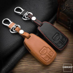 Leather key case/cover incl. keychain for Audi remote key