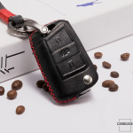 Premium 4D car Key Cover Leather for Volkswagen - KeyType...