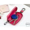 Leder Schlüsseltasche im  Karomuster mit Reißverschluß