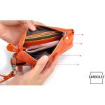Schlüsseltasche aus PU Leder mit Kartenfächern und Reißverschluß
