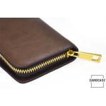 Schlüsseltasche aus echtem Leder mit Kartenfach und Reißverschluß