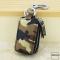 Schlüsseltasche im Camouflagemuster braun