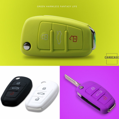 Silicone key fob cover case fit for Audi AX3 remote key
