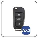 Silicone coque / housse clé télécommande pour Audi voiture lumineux vert SEK1-AX3-8