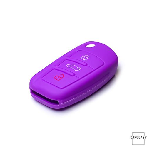 silicona funda para llave de Audi AX3 púrpura