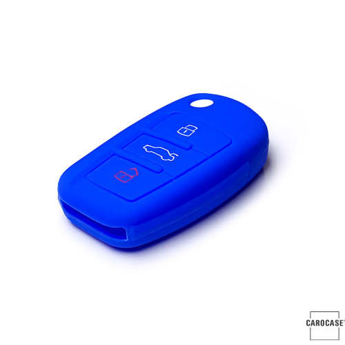 Silicone key case/cover for Audi remote keys blue SEK1-AX3-4