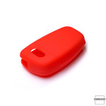 Silicone key case/cover for Audi remote keys red SEK1-AX3-3