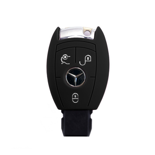 Coque de protection en silicone pour voiture Mercedes-Benz clé télécommande M7 noir