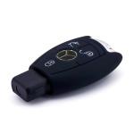 Silikon Schutzhülle / Cover passend für Mercedes-Benz Autoschlüssel M7 schwarz