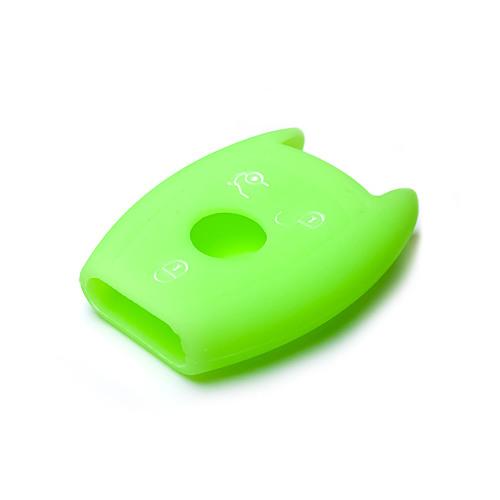 Cover Guscio / Copri-chiave silicone compatibile con Mercedes-Benz M7 verde (illuminante)