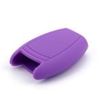 Silikon Schutzhülle / Cover passend für Mercedes-Benz Autoschlüssel M7 lila
