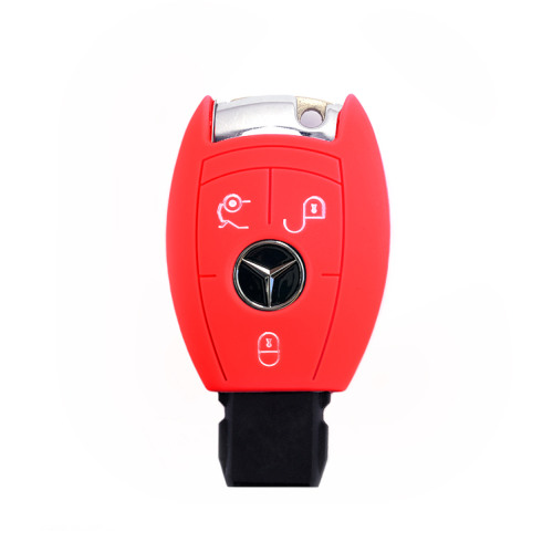 Silicone key fob cover case fit for Mercedes-Benz M7 remote key red