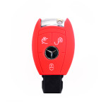 Silicone key case/cover for Mercedes-Benz remote keys red SEK1-M7-3