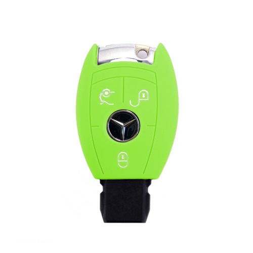 Coque de protection en silicone pour voiture Mercedes-Benz clé télécommande M7 vert