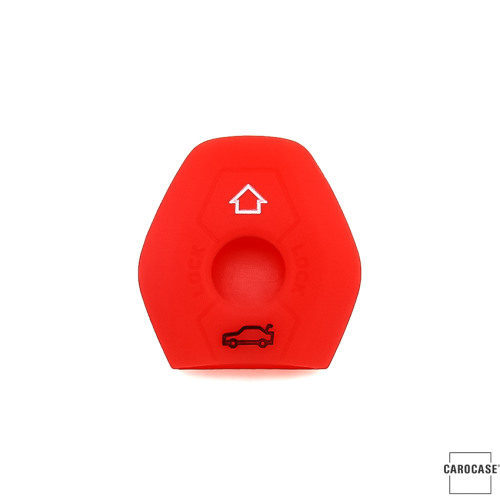 Coque de protection en silicone pour voiture BMW clé télécommande B2 rouge