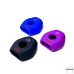 Silicone coque / housse clé télécommande pour BMW voiture rouge SEK1-B2-3